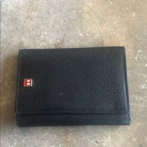 Black Bally Wallet With Identification Window